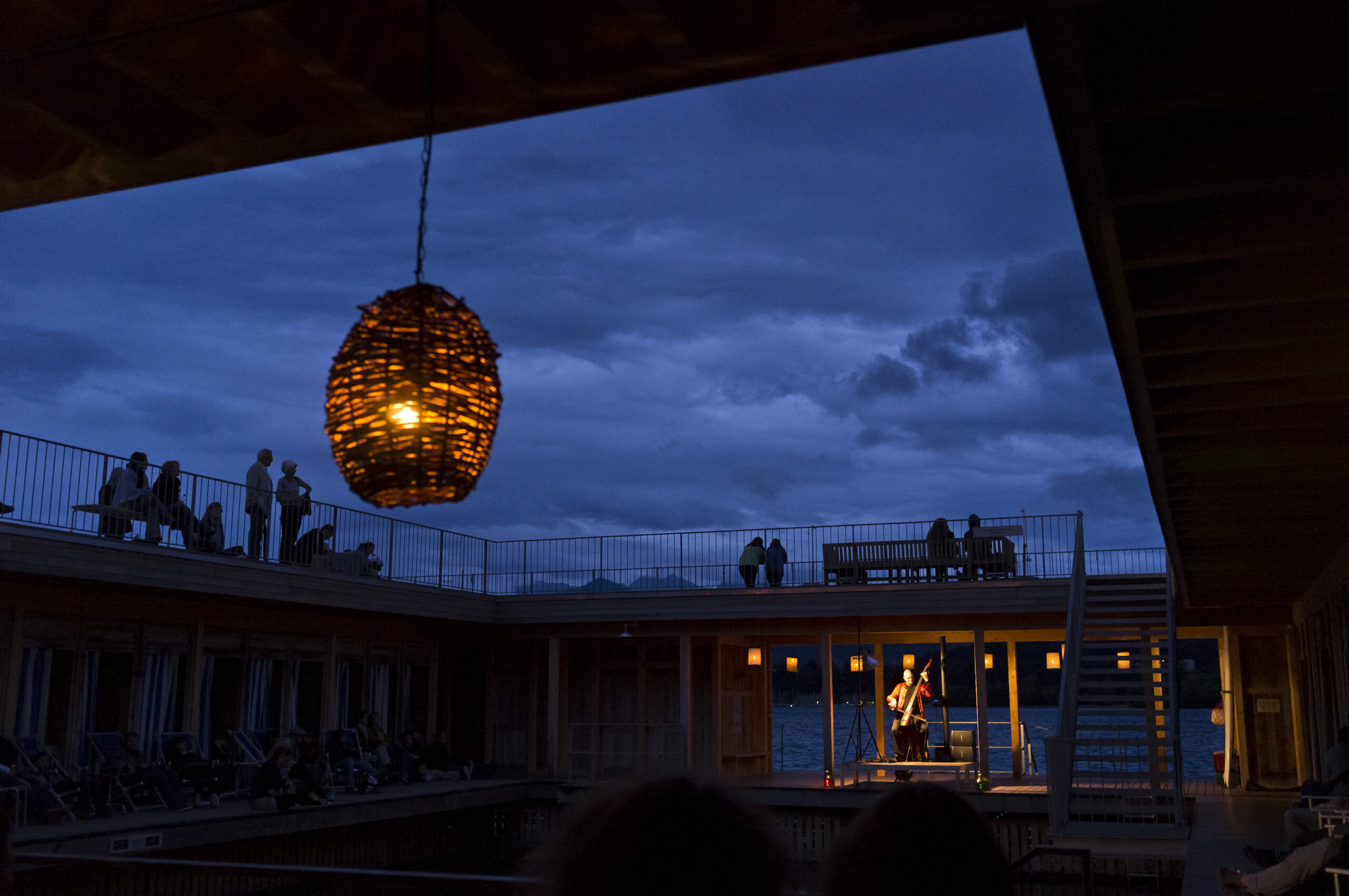 Mich Gerber in der Seebadi Luzern