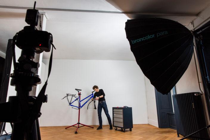 Demontage Citybike im Atelier