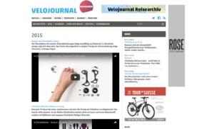 Stop-Motion der Zerlegung auf der Website des Velojournals