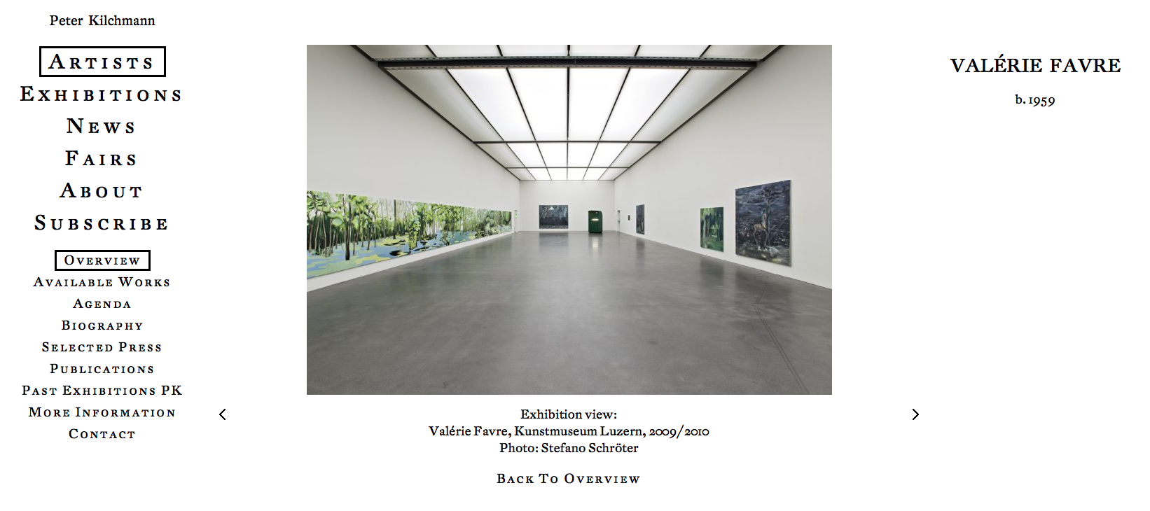 Valérie Favre, Kunstmuseum Luzern, 2009/2010
