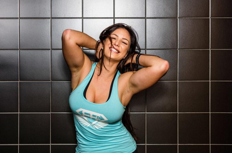 Anja Zeidler, Fitnessmodel mit Körbchenl
