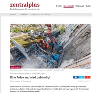 Artikel Felswandsicherung Zentralplus