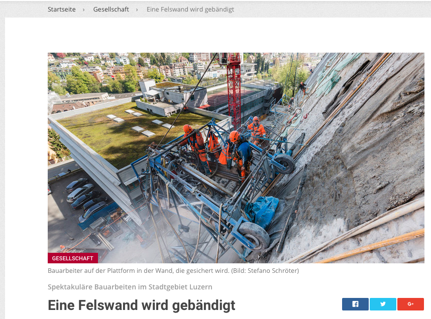 Felssicherung Sagenmatt Luzern