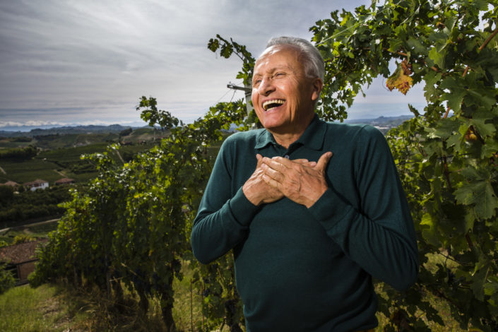 Weinproduzent Angelo Gaja im Rebbeerg