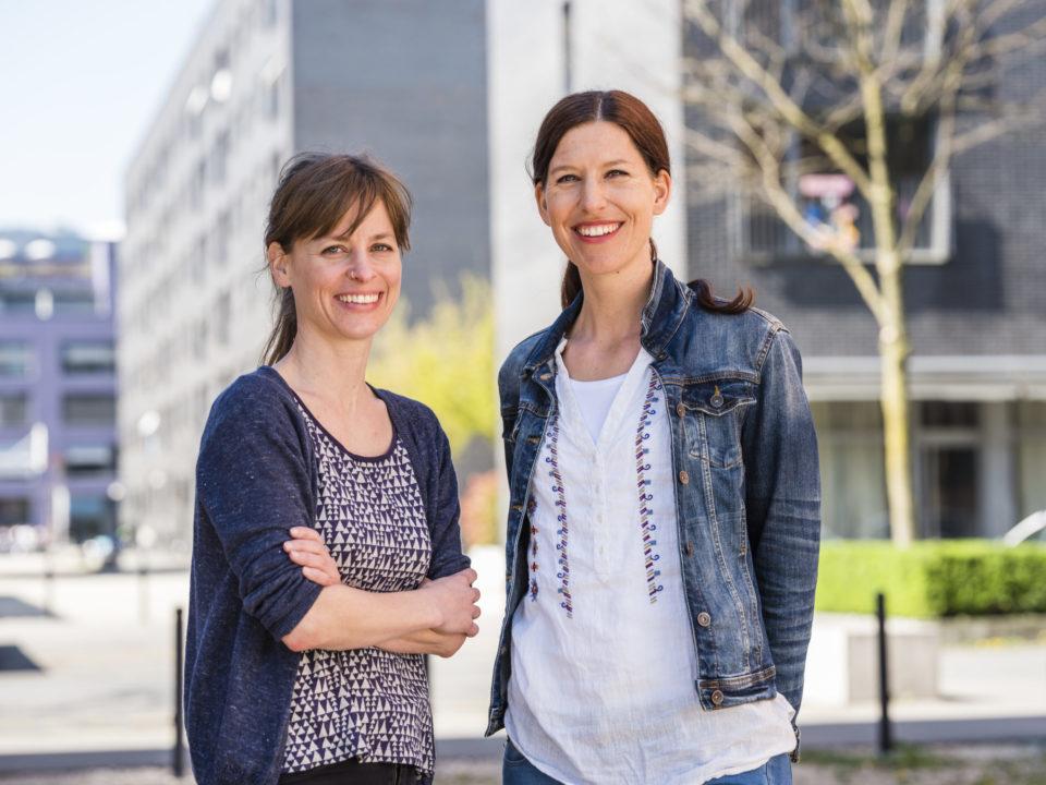 Porträt von Katrin Burri und Zilia Spaeni Luniq wohnen wie wir