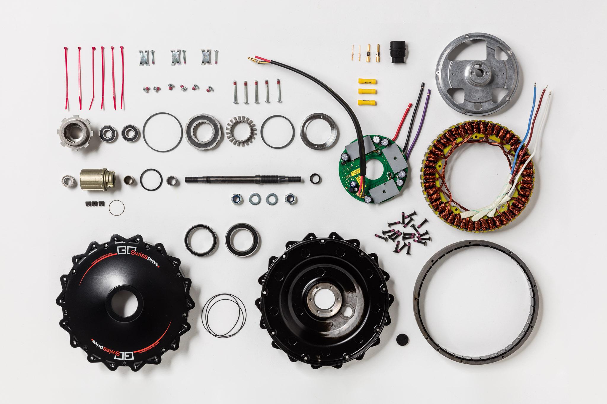 Einzelteile Nabenmotor