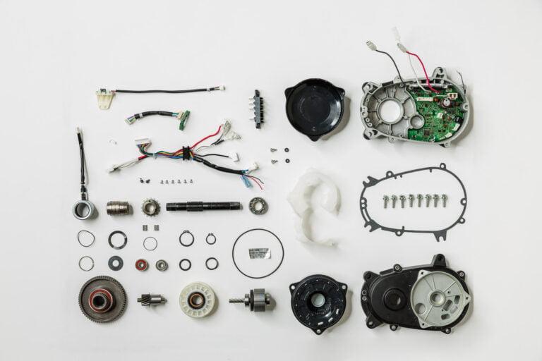 Einzelteile Mittelmotor