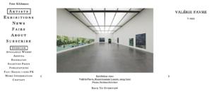 Valérie Favre im Kunstmuseum Luzern