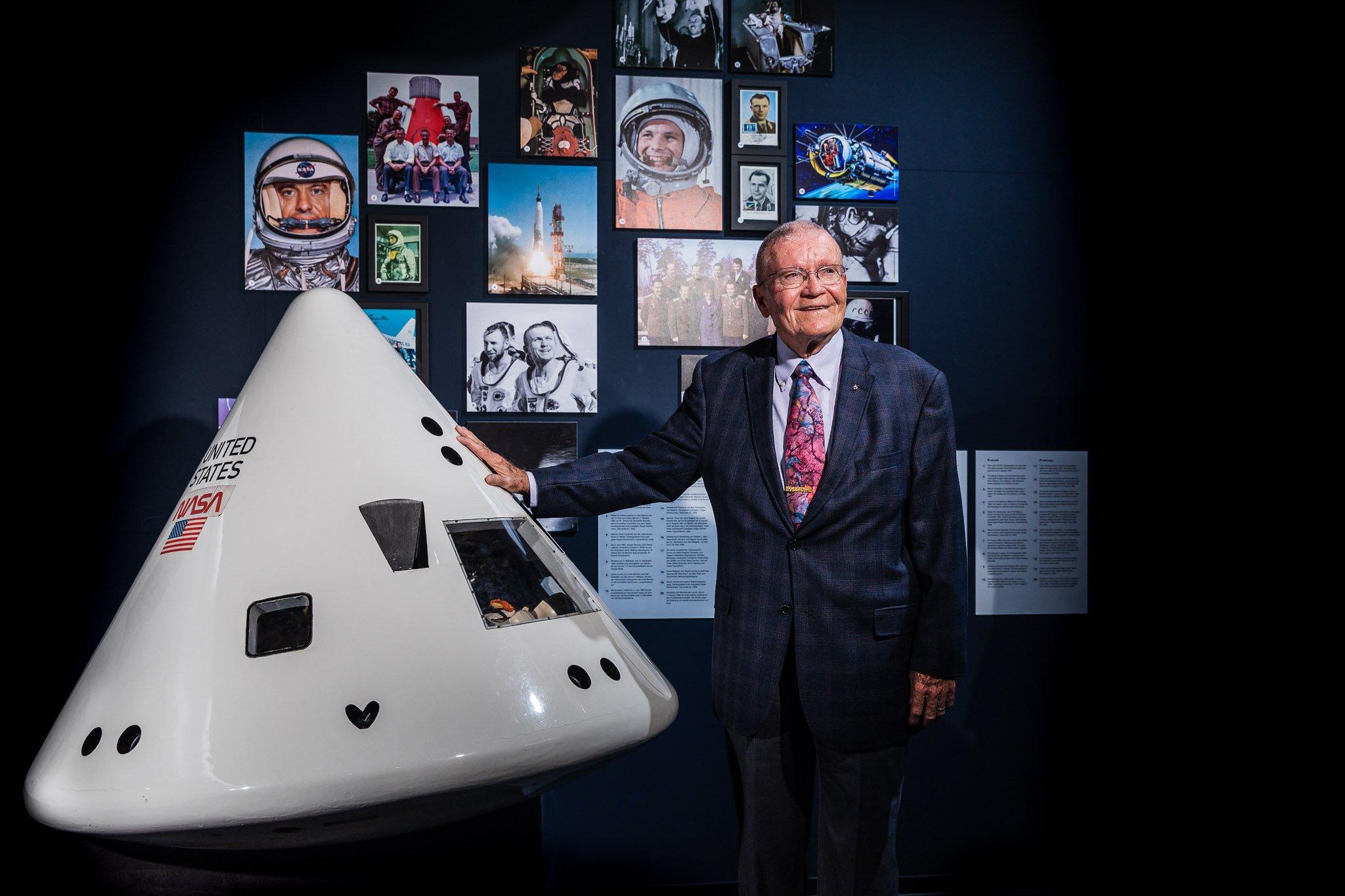 Portrait von Fred Haise, Astronaut der Apollo 13 Mission
